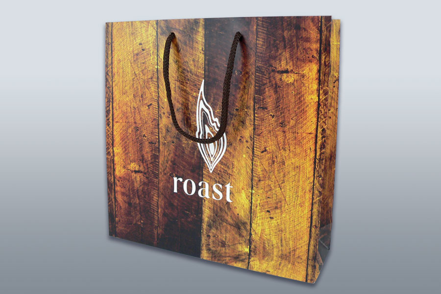 Branded restaurant takeaway bags